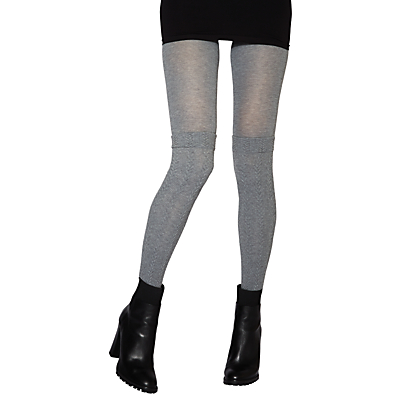 Jonathan Aston Mirage Mock Cable Over The Knee Tights, Grey