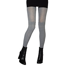 Buy Jonathan Aston Mirage Mock Cable Over The Knee Tights, Grey Online at johnlewis.com