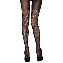 Buy Jonathan Aston Tribute Mock Lace Over Knee Tights, Black Online at johnlewis.com