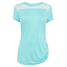Buy Karen Millen Lace Shoulder T-Shirt Online at johnlewis.com