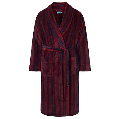 John Lewis Printed Stripe Fleece Robe
