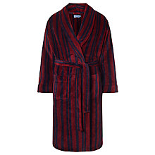 Buy John Lewis Printed Stripe Fleece Robe Online at johnlewis.com