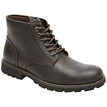 Buy Rockport Street Escape Leather Lace Up Boots, Brown Online at johnlewis.com
