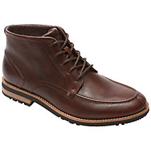 Buy Rockport Ledge Hill Leather Lace Up Boots, Brown Online at johnlewis.com