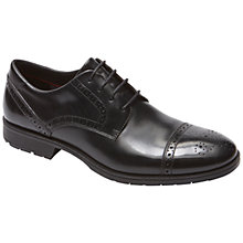 Buy Rockport Total Motion Cap Toe Brogues, Black Online at johnlewis.com