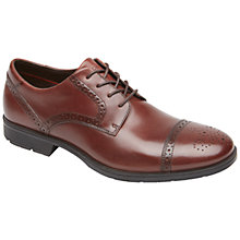 Buy Rockport Total Motion Cap Toe Brogues, Tan Online at johnlewis.com