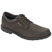 Buy Rockport Rugged Bucks Waterproof Plaintoe Shoes, Dark Brown Online at johnlewis.com