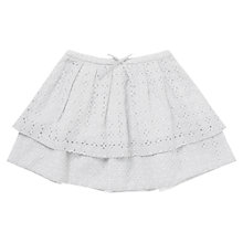 Buy Jigsaw Junior Girls' Embroidered Daisy Tiered Skirt, Grey Online at johnlewis.com