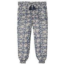 Buy Mango Kids Girls' Flower Print Trousers, Medium Blue Online at johnlewis.com