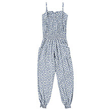 Buy Jigsaw Junior Girls' Fan Print Jumpsuit, Blue Online at johnlewis.com