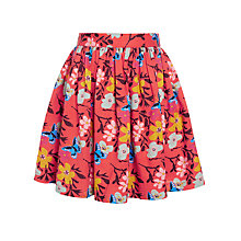 Buy John Lewis Girl Floral Skirt, Strawberry Online at johnlewis.com