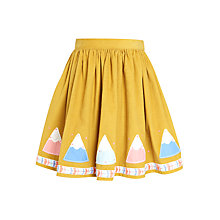 Buy John Lewis Girls' Cord Teepee Skirt, Mustard Online at johnlewis.com