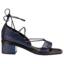 Buy Whistles Nevine Leather Block Heel Lace Up Sandals Online at johnlewis.com