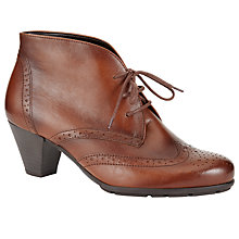 Buy Gabor Alesi Block Heeled Ankle Boots, Tan Leather Online at johnlewis.com