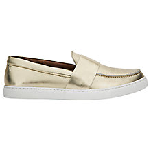 Buy Whistles Daphne Leather Slip On Trainers Online at johnlewis.com