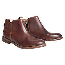 Buy H by Hudson Revelin Leather Ankle Boots, Chocolate Online at johnlewis.com