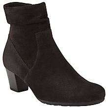 Buy Gabor Glencoe Wide Fit Nubuck Ankle Boots, Black Online at johnlewis.com