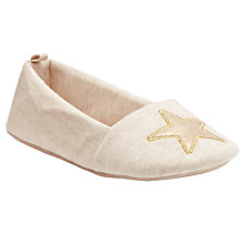 Buy John Lewis Cream Star Detail Ballet Slippers, Cream Online at johnlewis.com