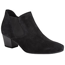 Buy Gabor Beatrix Wide Fit Suede Ankle Boots, Black Online at johnlewis.com