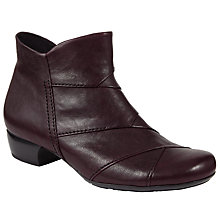Buy Gabor Halter Wide Fit Leather Ankle Boots, Dark Merlot Online at johnlewis.com
