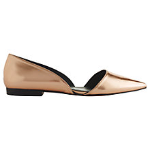 Buy Whistles Phlox Leather Pointed Slip On Shoes, Rose Gold Online at johnlewis.com