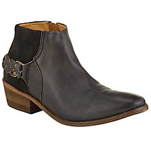 Buy H by Hudson Triad Ankle Boots, Black Suede Online at johnlewis.com
