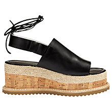 Buy Whistles Rada Leather Flatform Sandals Online at johnlewis.com