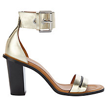 Buy Whistles Senna Leather Block Heel Sandals Online at johnlewis.com