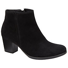 Buy Gabor Greene Suede Block Heel Ankle Boots, Black Online at johnlewis.com