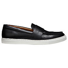 Buy Whistles Daphne Leather Slip On Trainers, Black Leather Online at johnlewis.com