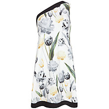 Buy Ted Baker Paper Petals Print Drape Tunic Dress, White Online at johnlewis.com