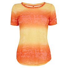 Buy Karen Millen Ombre Stripe T-Shirt, Orange Online at johnlewis.com