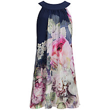 Buy Ted Baker Marindi Peony Ombre Swing Dress, Multi Online at johnlewis.com