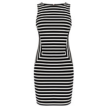 Buy Karen Millen Stripe Panelled Dress, Black/White Online at johnlewis.com