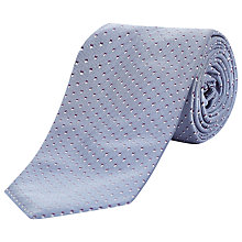 Buy Jaeger Shadow Square Pattern Tie, Chambray Online at johnlewis.com