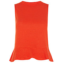 Buy Whistles Linen Flippy Hem Vest Online at johnlewis.com