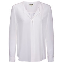 Buy Whistles Allie Silk Blouse, White Online at johnlewis.com