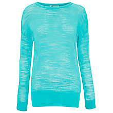 Buy Whistles Fine Knit Boxy Jumper, Turquoise Online at johnlewis.com