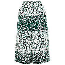 Buy Whistles Mosaic Print Culottes, Green/Multi Online at johnlewis.com