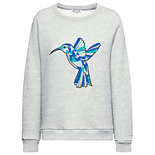Buy Whistles Hummingbird Cotton Jumper, Light Grey Online at johnlewis.com