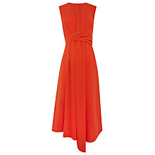 Buy Whistles Marisa Draped Dress, Red Online at johnlewis.com