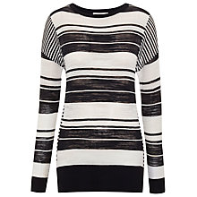 Buy Whistles Striped Boxy Jumper, Navy/Multi Online at johnlewis.com