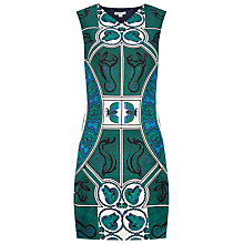 Buy Whistles Medallion Print Silk Dress, Pine Online at johnlewis.com