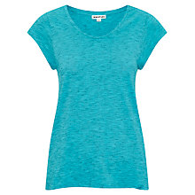 Buy Whistles New Faye Marl T-Shirt, Turquoise Online at johnlewis.com