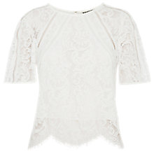 Buy Whistles Lilly Lace Top Online at johnlewis.com