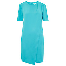 Buy Whistles Asymmetric Drape Dress, Turquoise Online at johnlewis.com