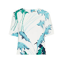 Buy Whistles Pampus Print Top, White/Multi Online at johnlewis.com