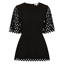 Buy Whistles Lekkie Tear Drop Broderie Top, Black Online at johnlewis.com
