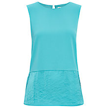 Buy Whistles Laney Mix And Match Top, Turquoise Online at johnlewis.com