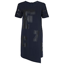 Buy French Connection Asymmetric T-Shirt Dress, Utility Blue Online at johnlewis.com